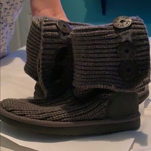 Women's UGG Cardy boots knitted gray